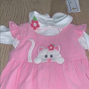 Florence Eiseman Cat Overalls With Shirt 18 Months